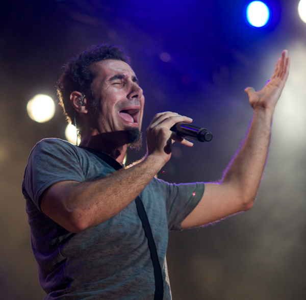 Serj Tankian performing in Bulgaria